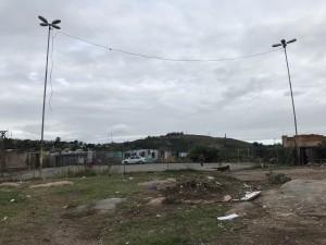 Quadra de esportes ao lado do Mirante do Morro da Cruz