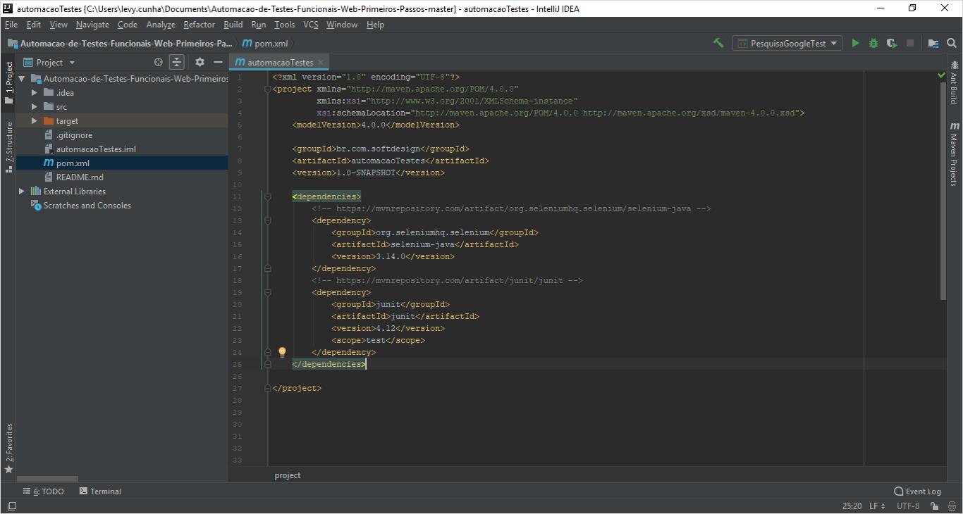 Automação de Testes Funcionais Web